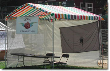 10 X 10 Rainbow canopy with summer screen wall & Tents