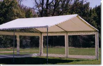 A 20 X 20 White Tent with Picture Window Wall. We use picture window wall when the occasion calls for shelter but the view is desirable. & Tents
